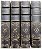 DECORATIVE BINDINGS AMAZING 4 VOLUMES ANTIQUE COURTIERS