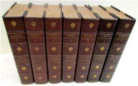 DECORATIVE BINDINGS 7 VOLUMES 1899 ANTIQUE ROBERT