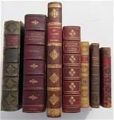 DECORATIVE BINDINGS 7 VOLUMES 1812-1940 ANTIQUE books