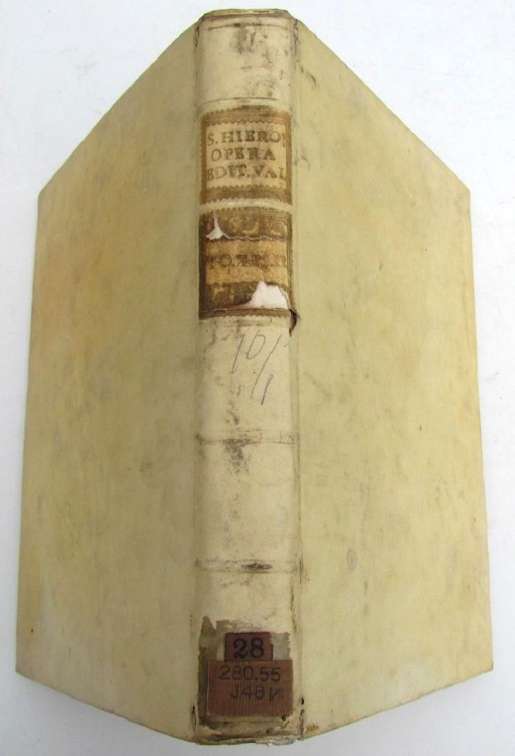 1771 VELLUM BOUND ST.JEROME ANTIQUE BOOK Vol. 10