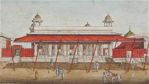Rare Indian Miniature 'Red Fort Delhi'
