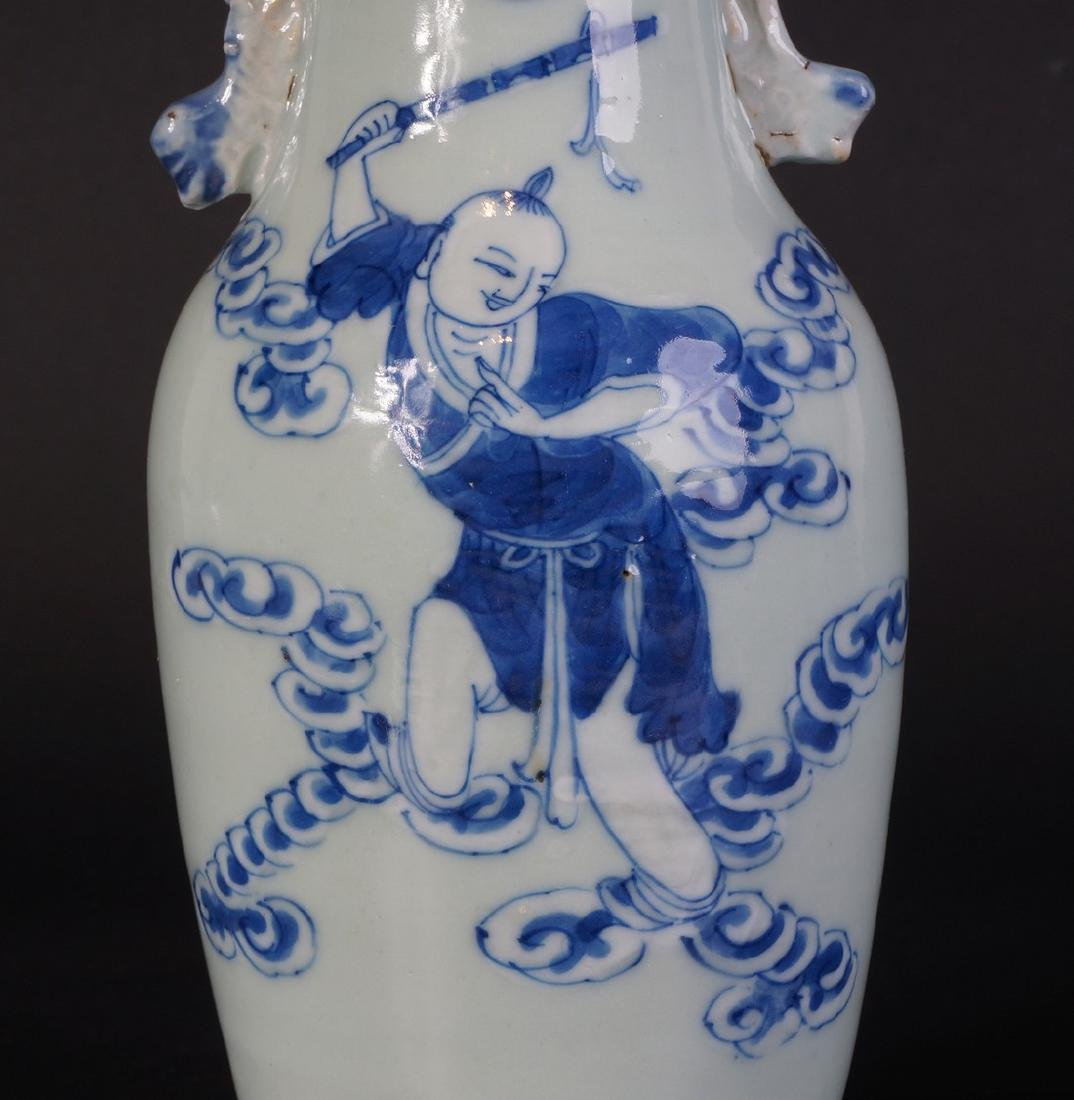 Antique Chinese Celladon vase - 5