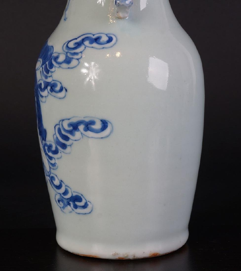 Antique Chinese Celladon vase - 6