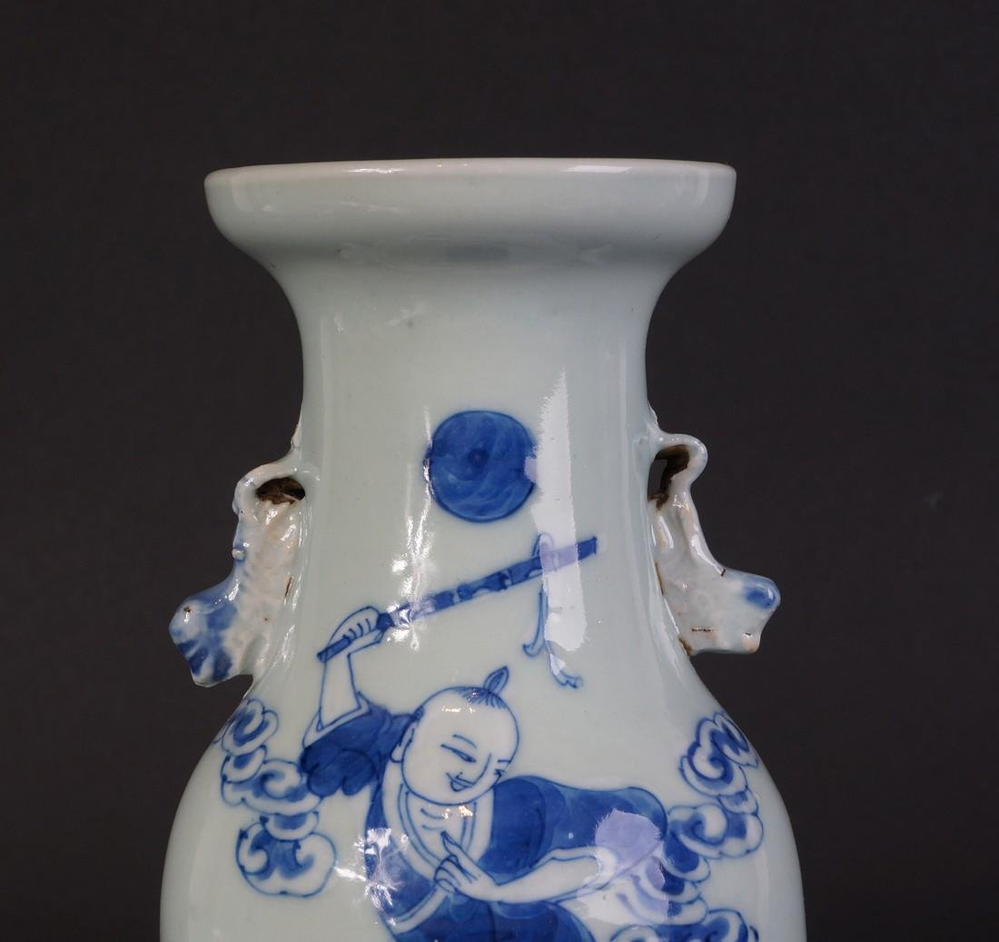 Antique Chinese Celladon vase - 7