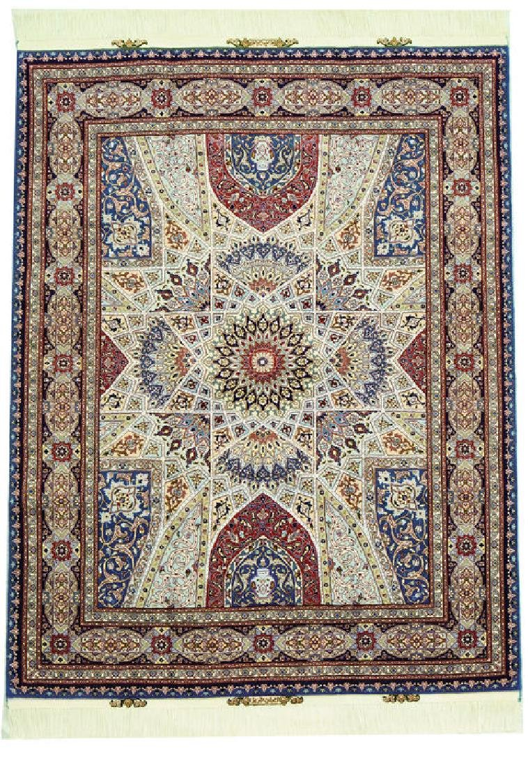 Silk Persian Tabriz Rug 7x4.9