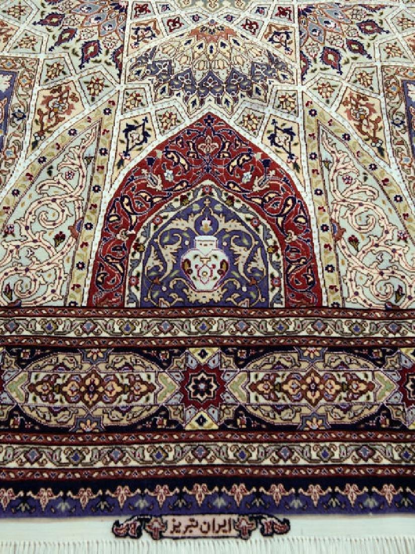 Silk Persian Tabriz Rug 7x4.9 - 2