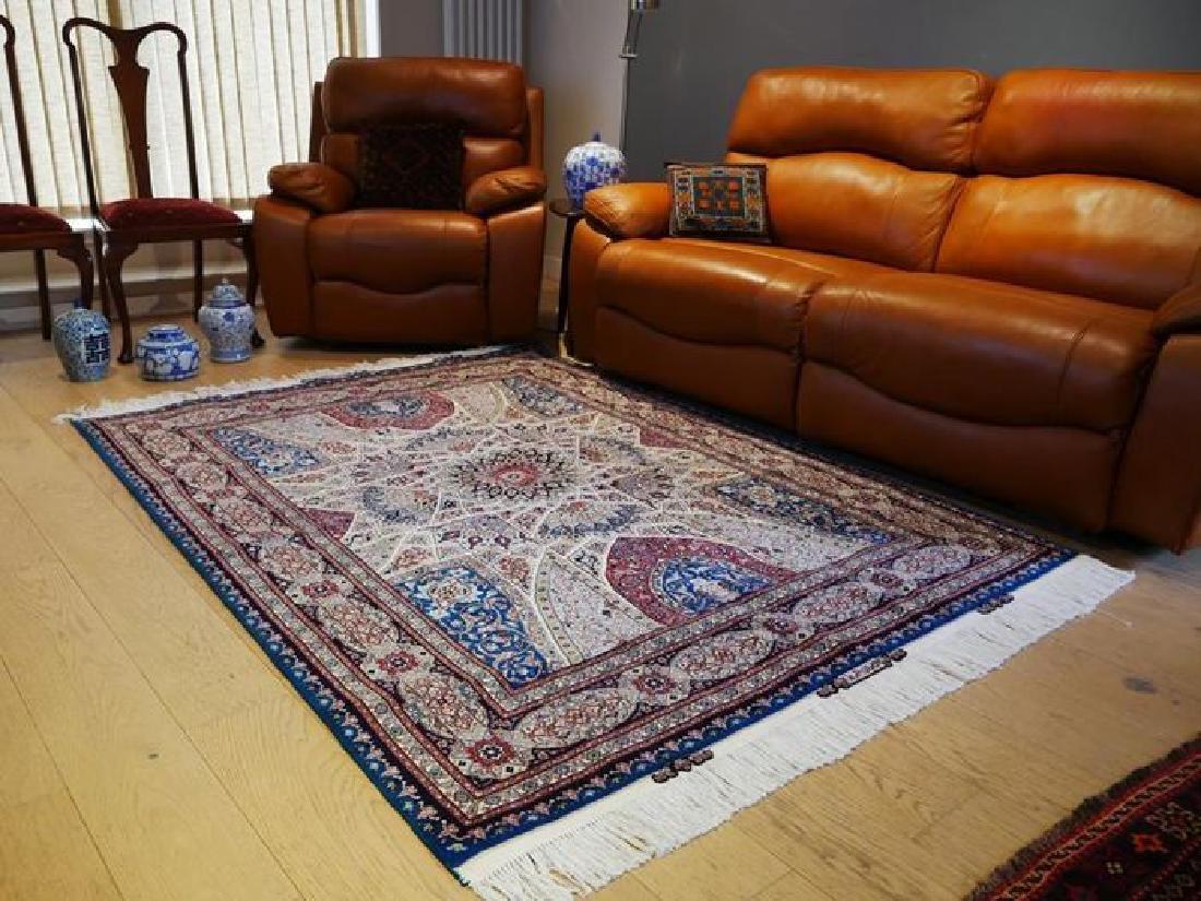 Silk Persian Tabriz Rug 7x4.9 - 3