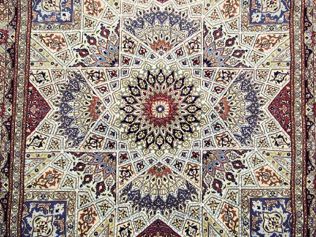 Silk Persian Tabriz Rug 7x4.9 - 4