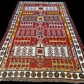 Antique Tribal Caucasian Kazak Rug 6.9x4.3