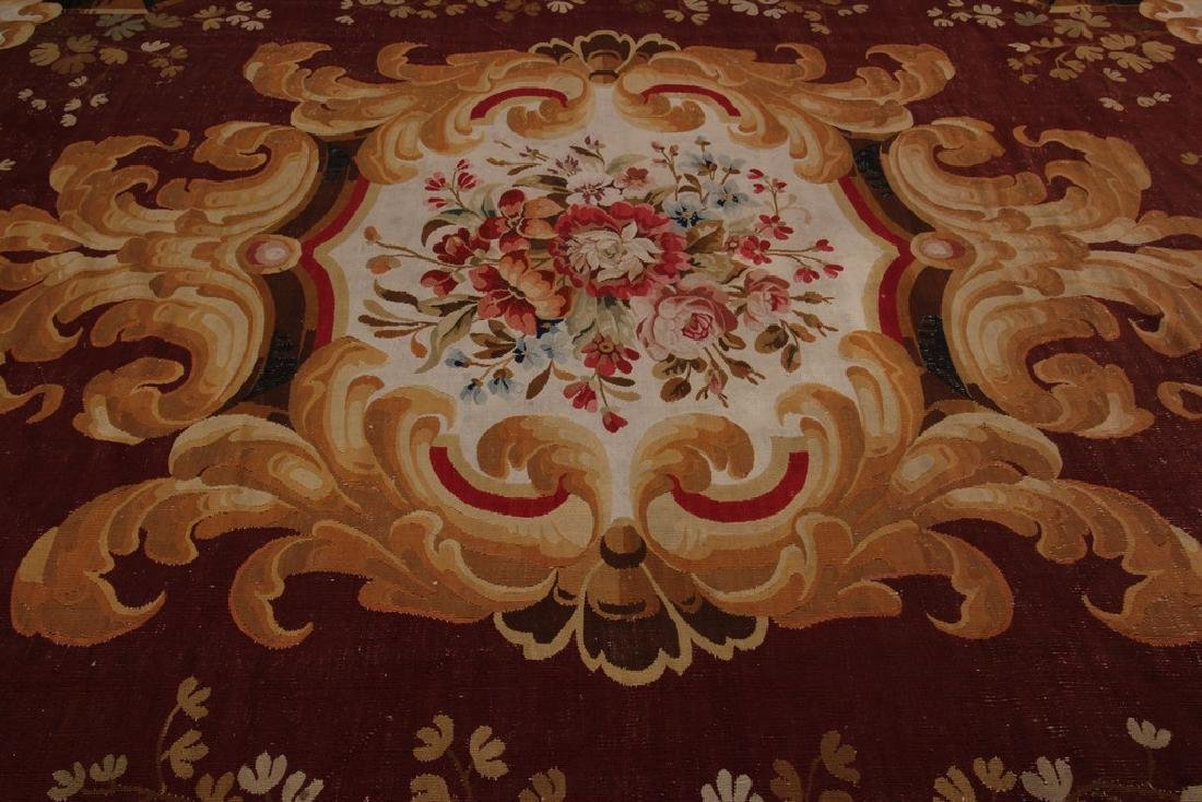 Amazing Antique French CharlesxAubusson Rug  9.x13.6 - 10