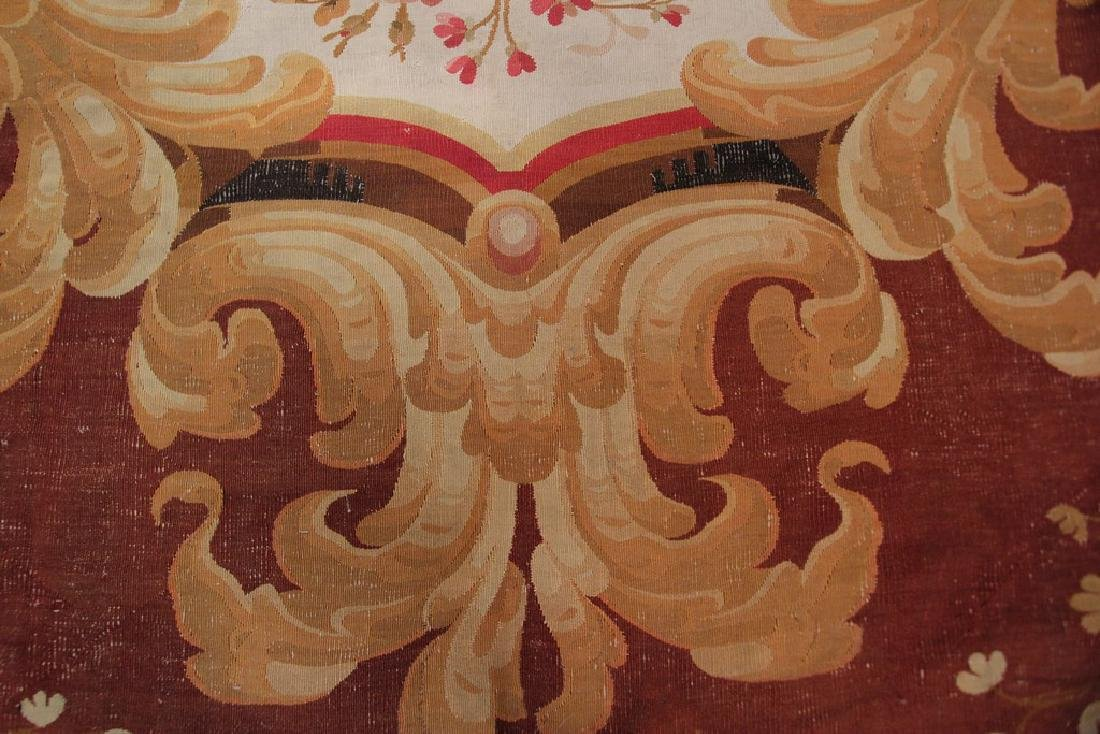 Amazing Antique French CharlesxAubusson Rug  9.x13.6 - 2