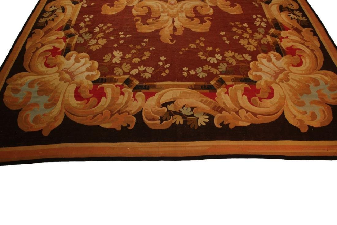 Amazing Antique French CharlesxAubusson Rug  9.x13.6 - 7