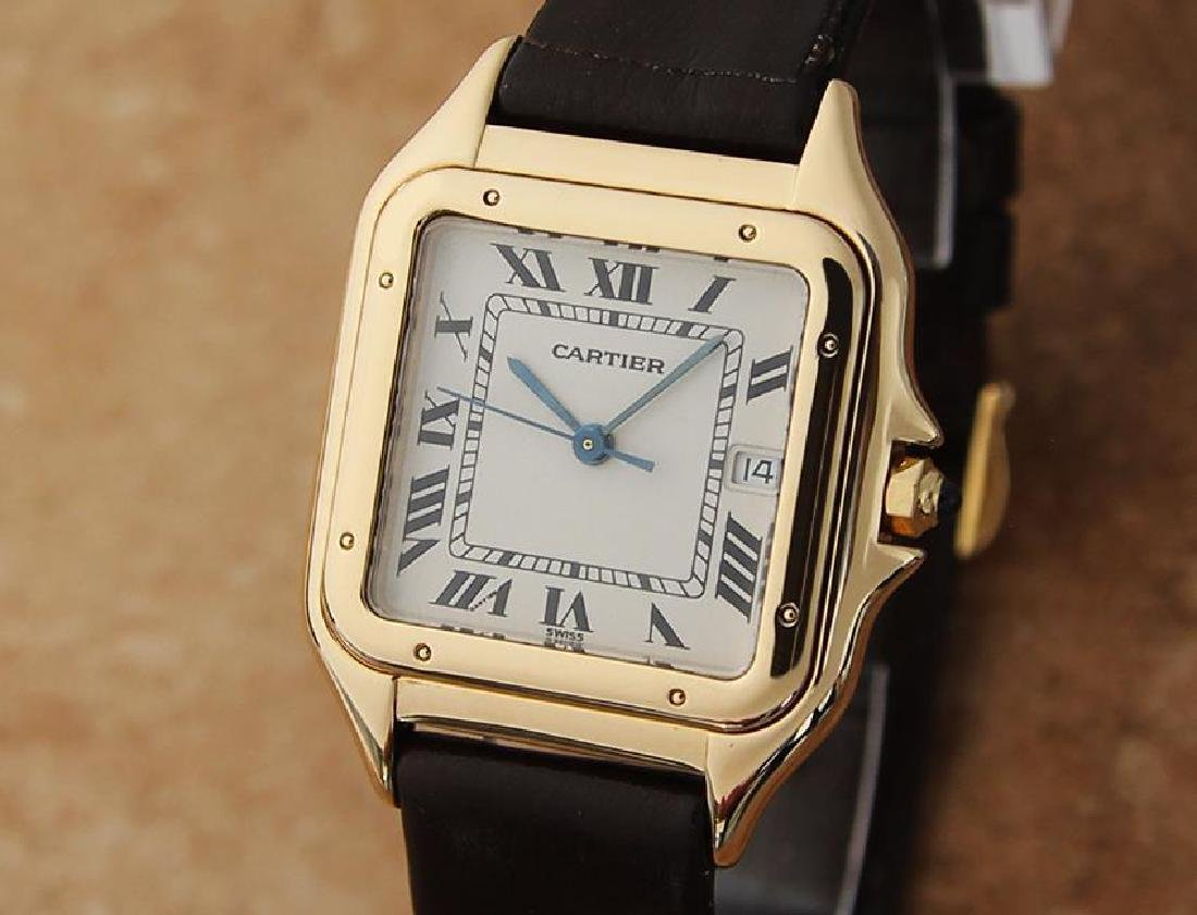Cartier 18K Gold Panthere Unisex 28mm 1990s Luxury