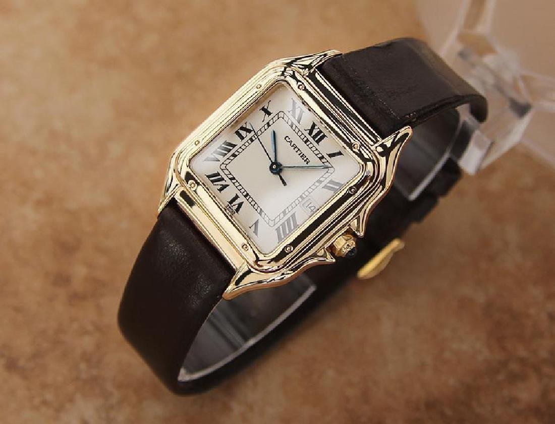 Cartier 18K Gold Panthere Unisex 28mm 1990s Luxury - 2