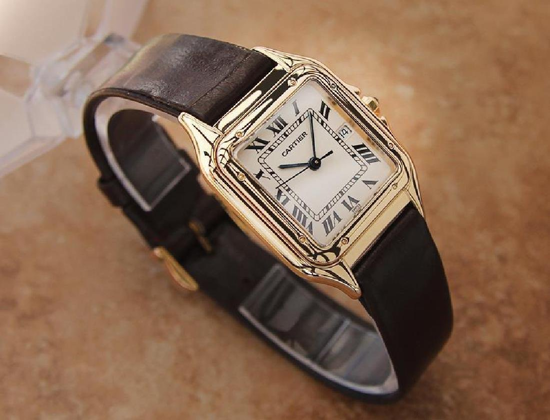 Cartier 18K Gold Panthere Unisex 28mm 1990s Luxury - 3