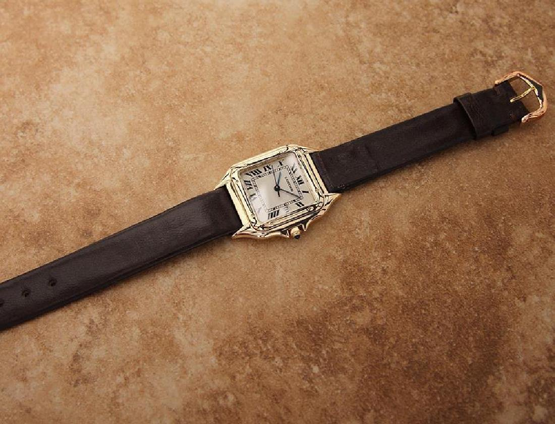 Cartier 18K Gold Panthere Unisex 28mm 1990s Luxury - 5
