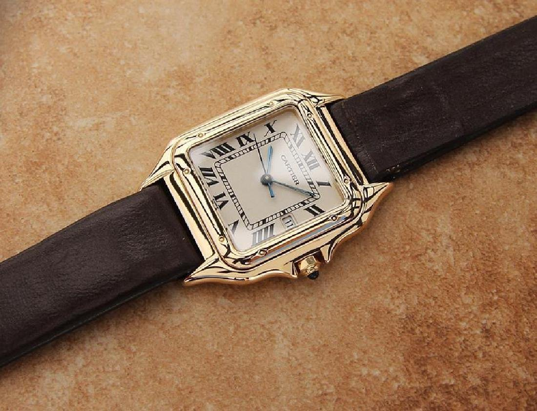 Cartier 18K Gold Panthere Unisex 28mm 1990s Luxury - 6