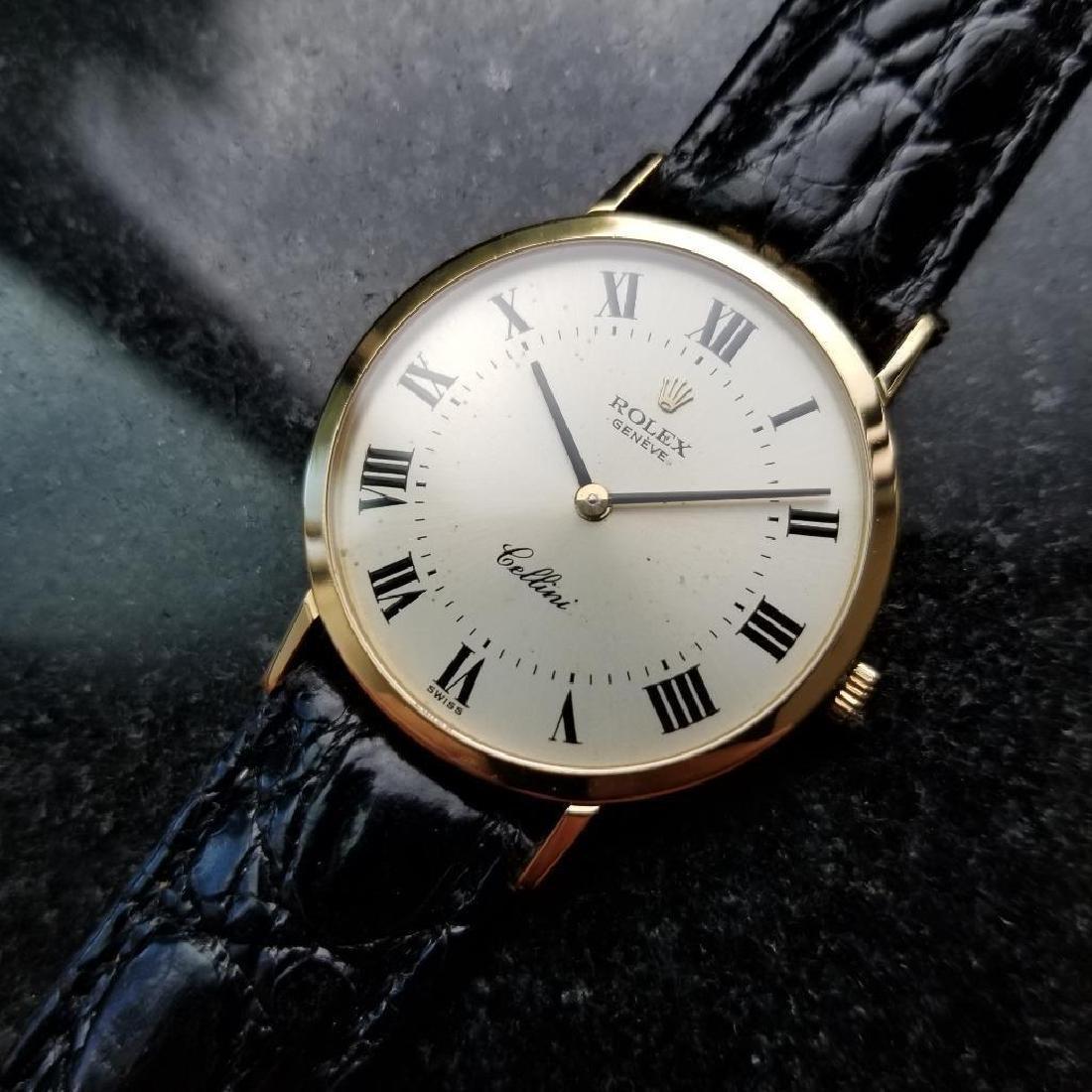 Rolex Cellini 18K Solid Gold 1981 Mens Swiss Watch