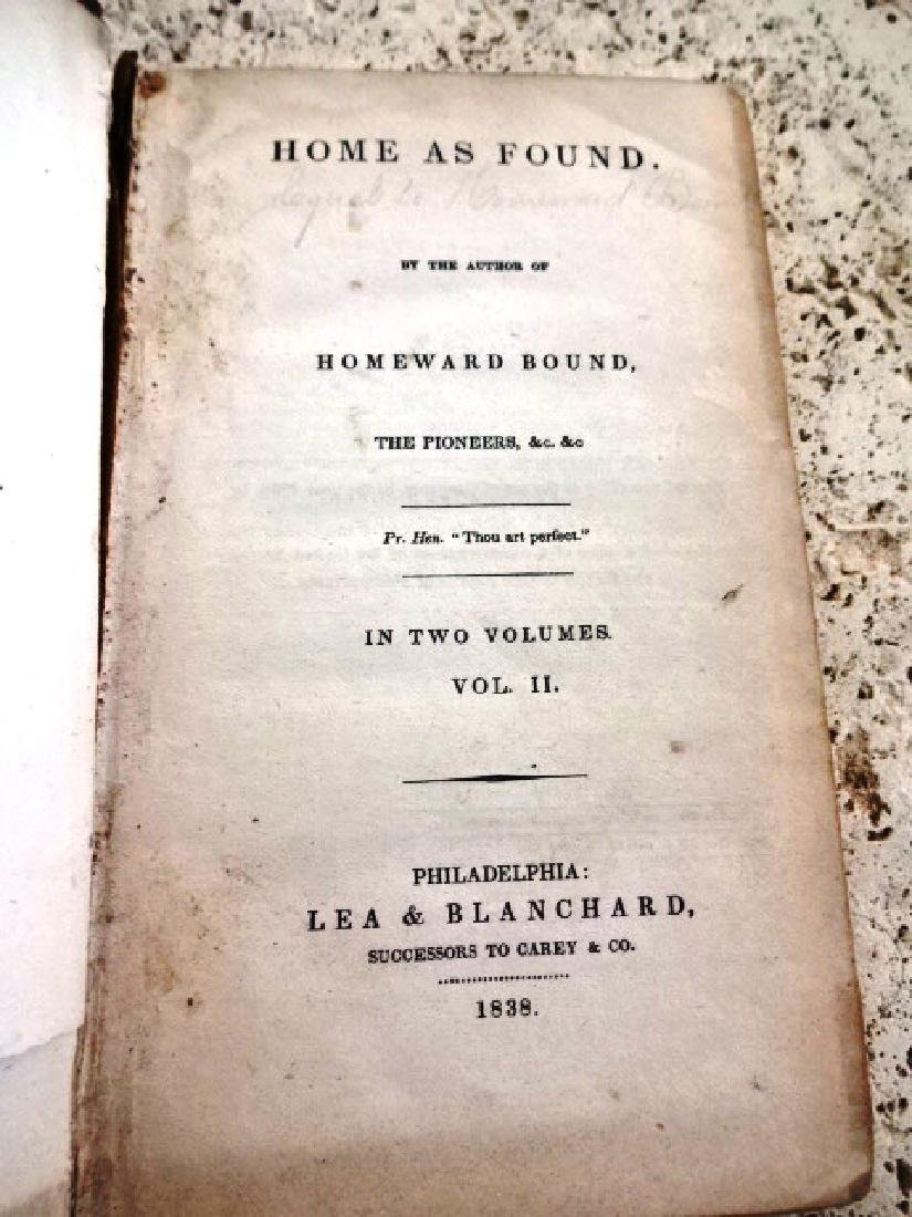 1838 Leather Binding Home As Found - 2
