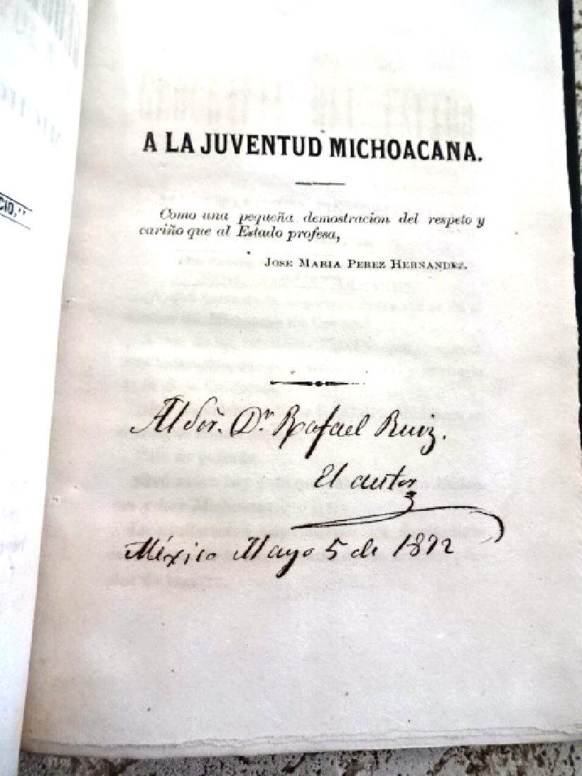 1872 Compendio De La Geografia Del Estado De Michoacan - 2