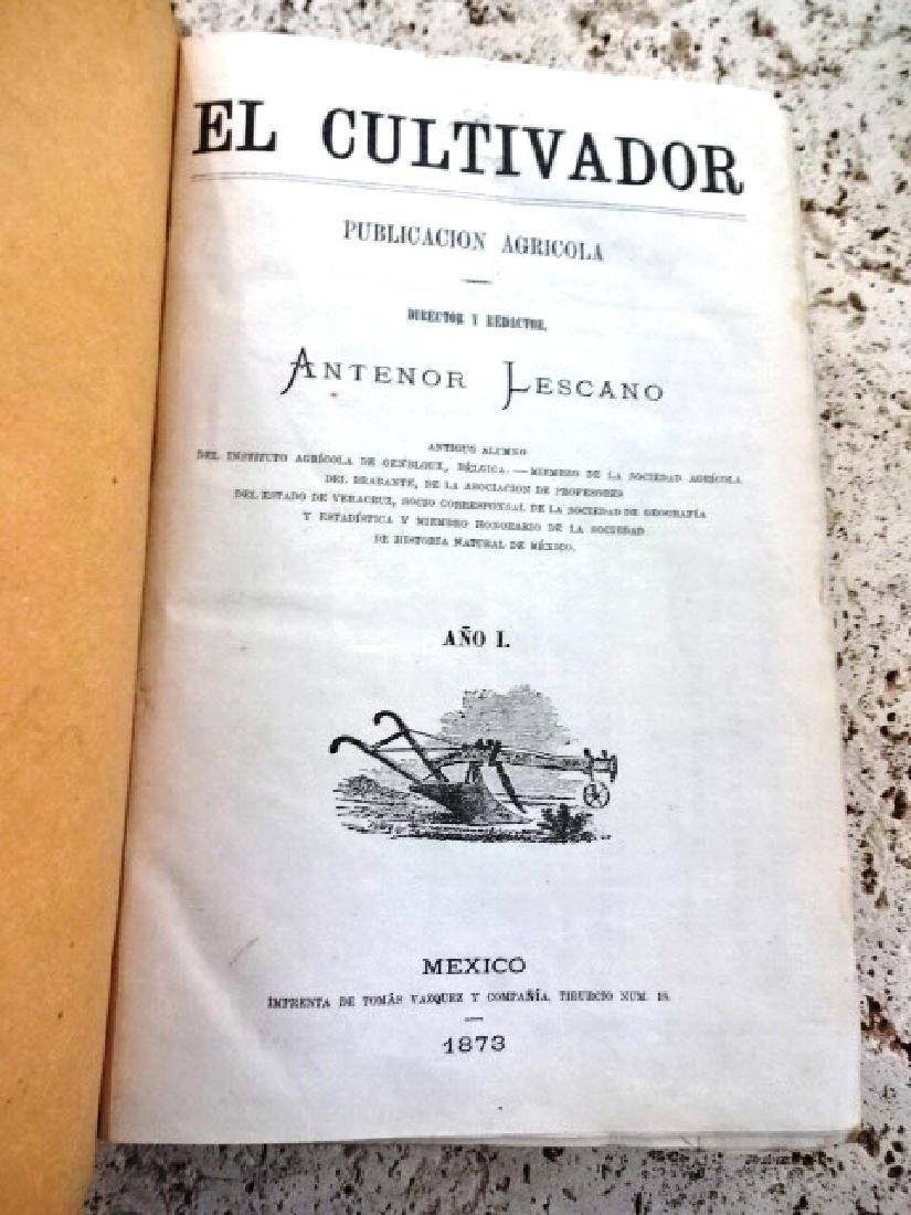 1873 El Cultivador. Publicacion Agricola