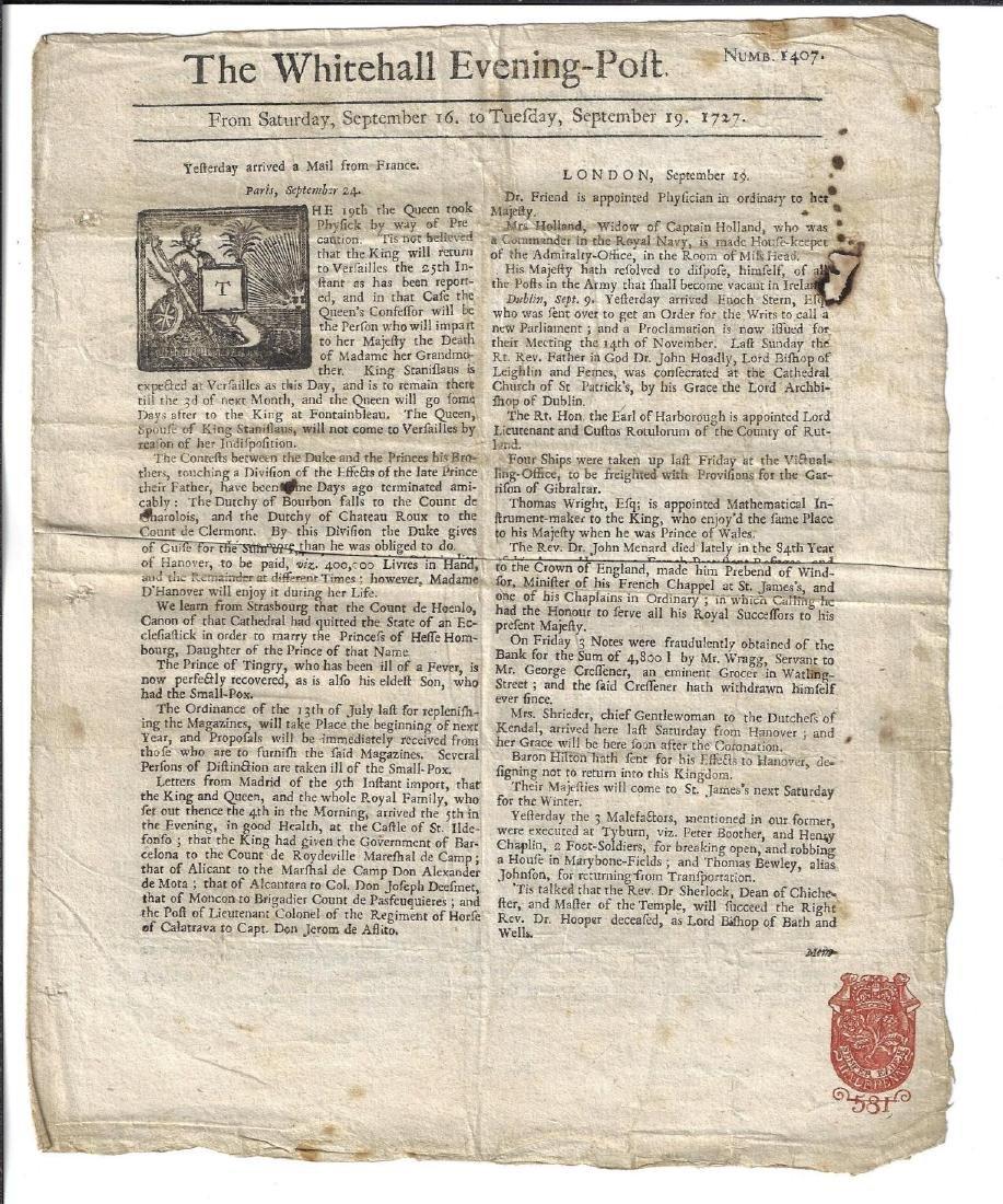 1727 Whitehall Evening-Post
