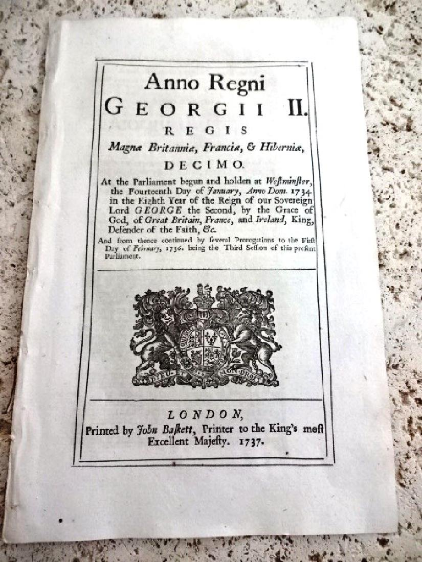 1737 English Act Rogues Vagabonds