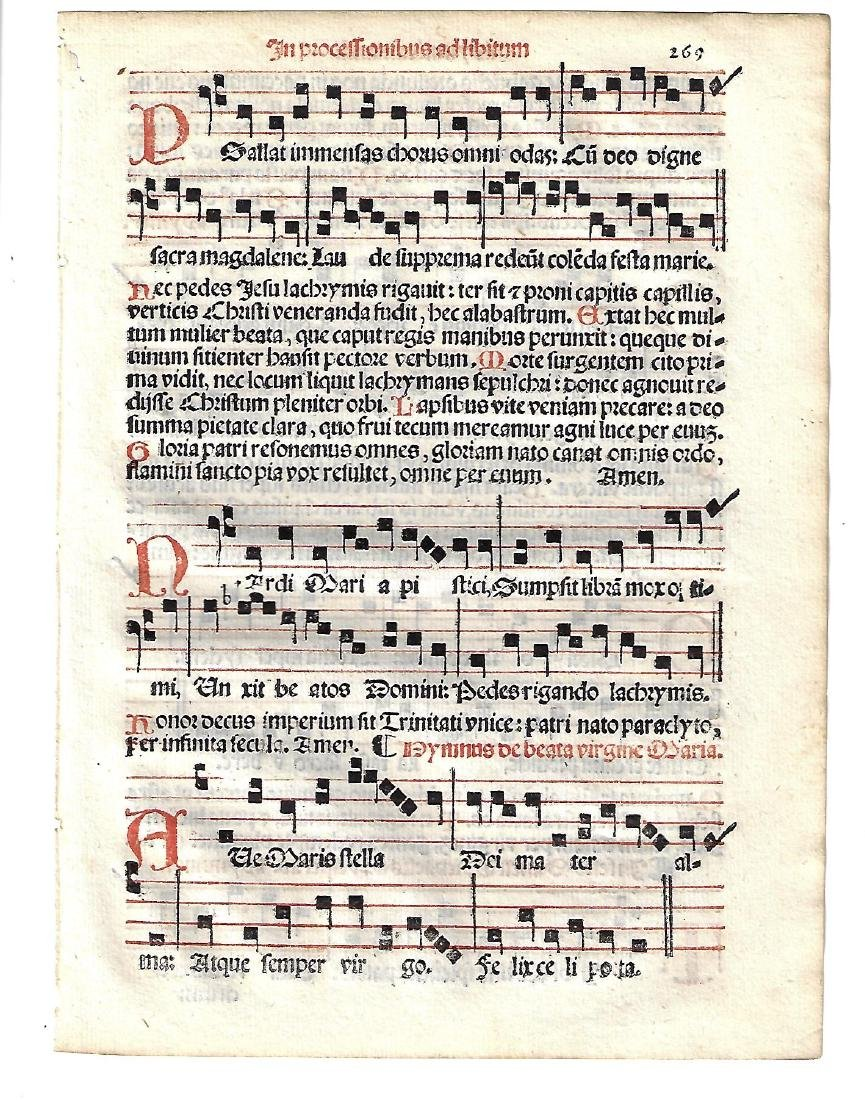 1567 Catholic Hymnal Leaf Music Red and Black