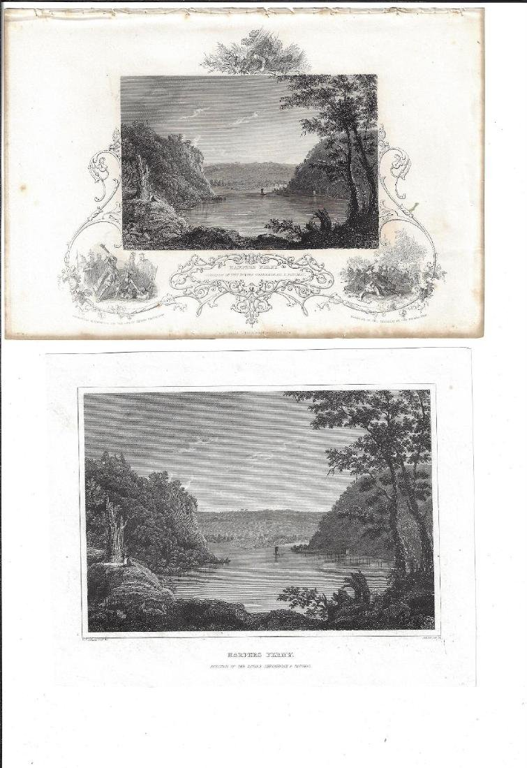 1830 Two Engravings of Harpers Ferry