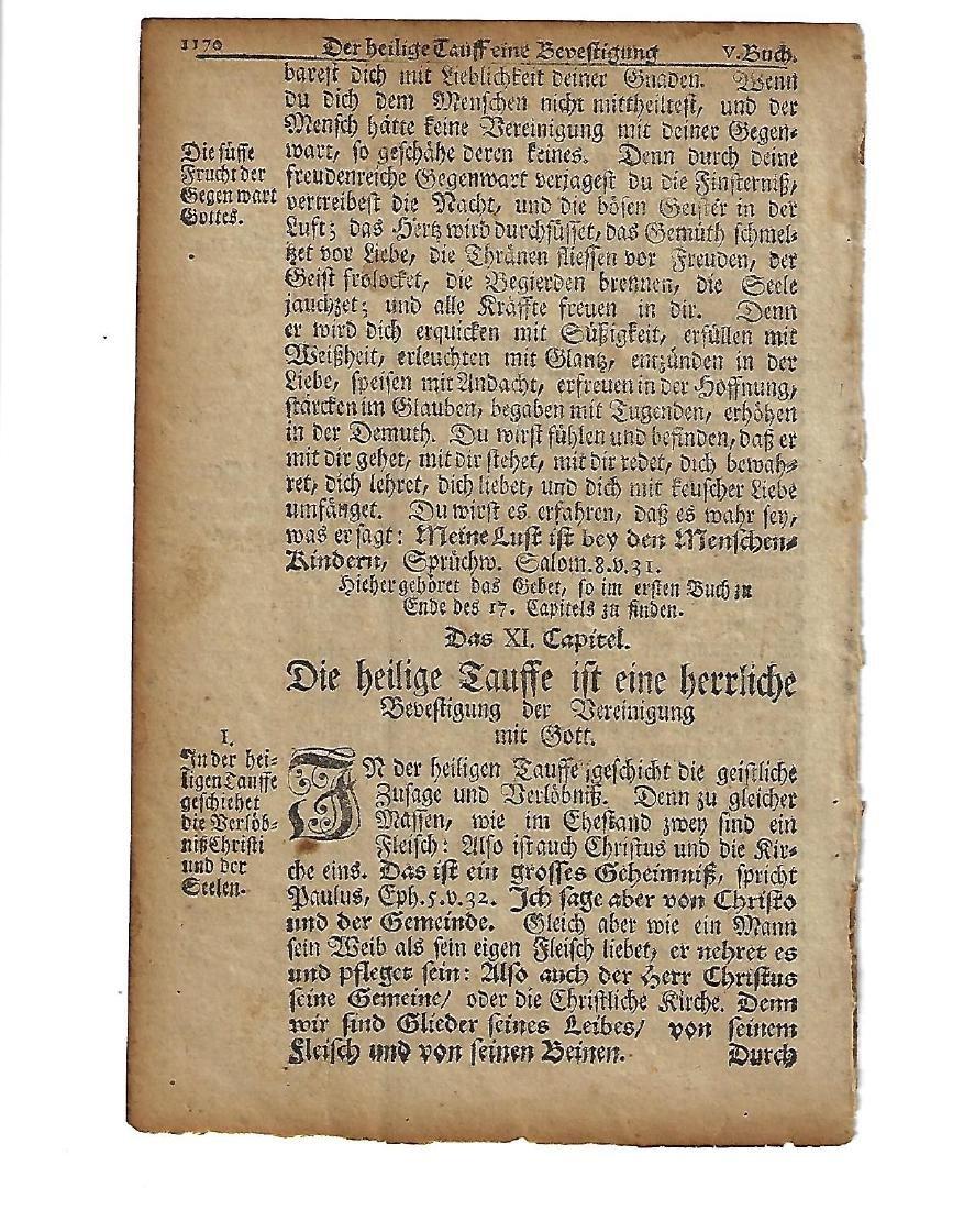 1751 Leaf Benjamin Franklin Fraktur Printing