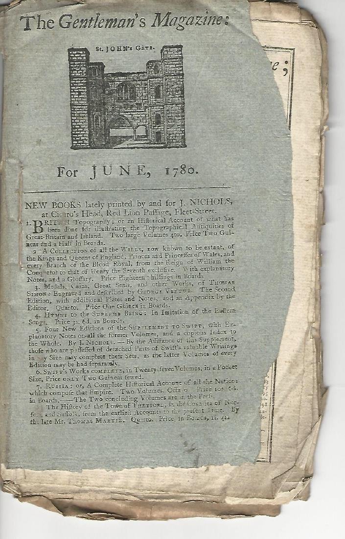 1780 Magazine Revolutionary War w/ Engraving Fortress