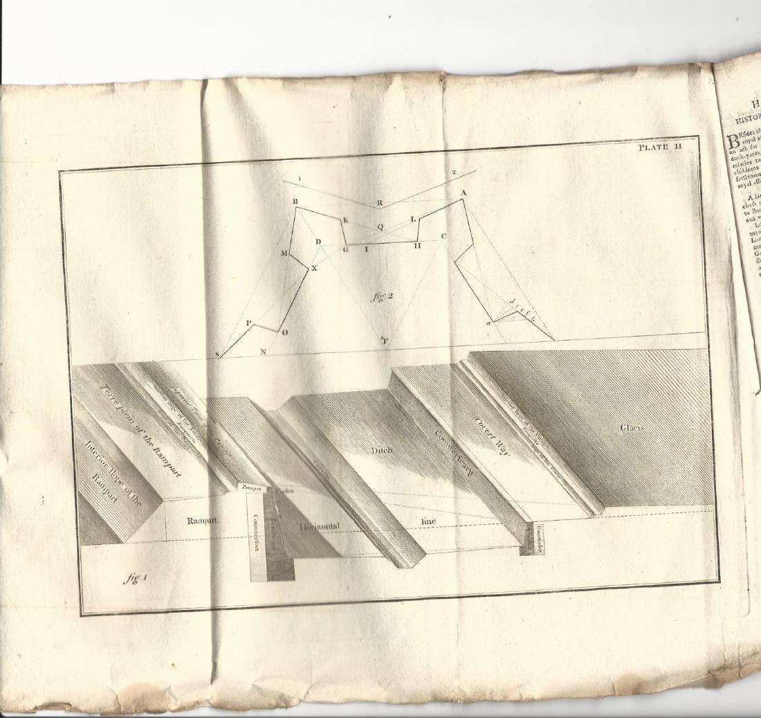1780 Magazine Revolutionary War w/ Engraving Fortress - 2
