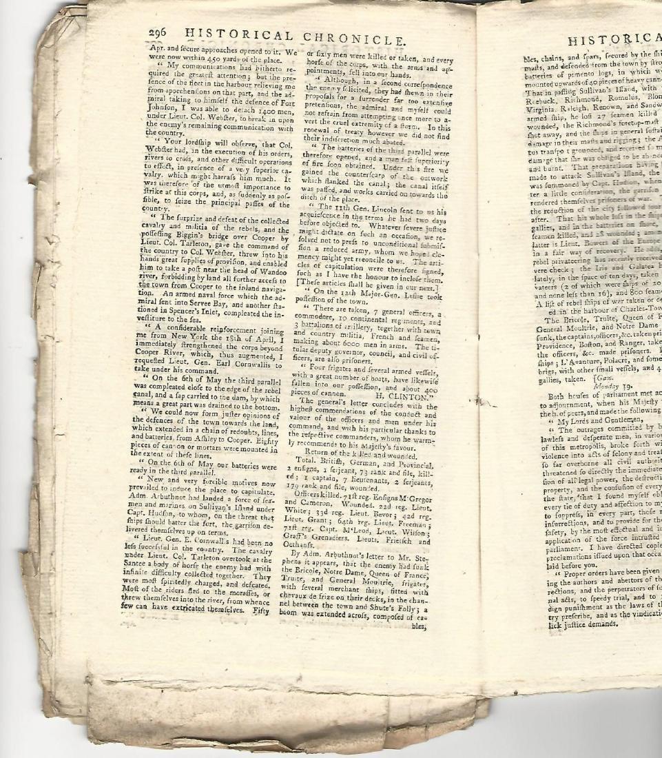 1780 Magazine Revolutionary War w/ Engraving Fortress - 3