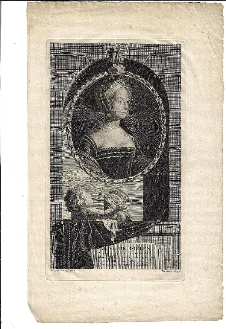 1707 Engraving of Anne Boleyn by Werff