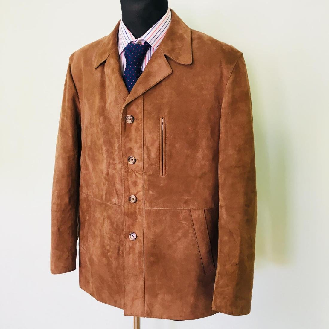 Vintage Men's Canda Designer Genuine Leather Jacket - 2