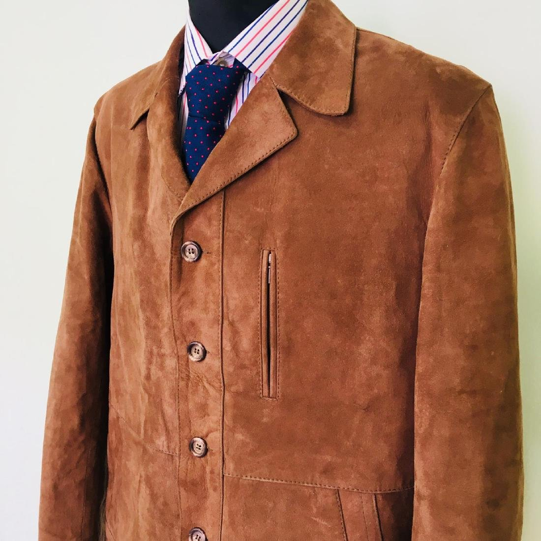 Vintage Men's Canda Designer Genuine Leather Jacket - 3