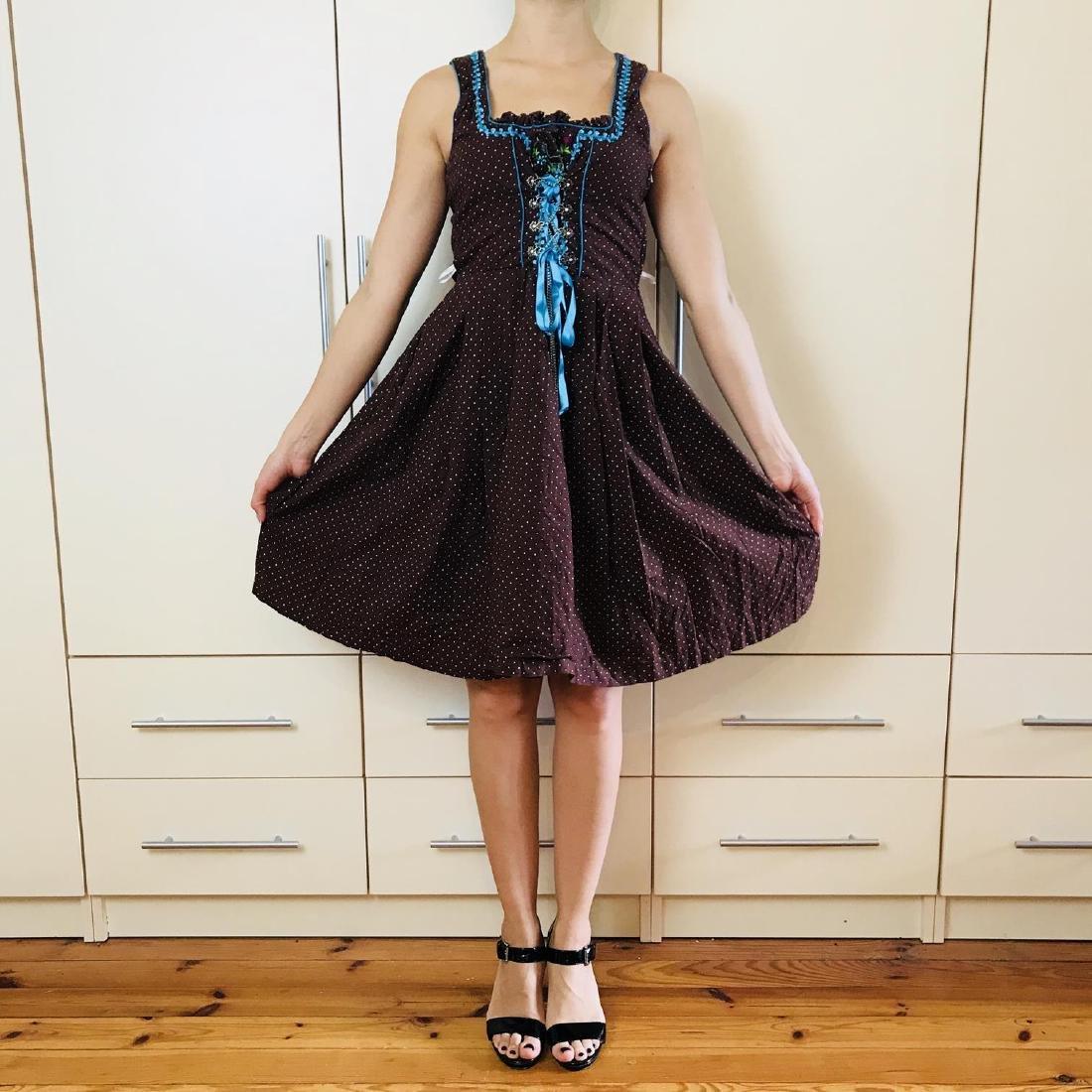 Vintage Women's Landhaus Country Drindl Tyrolean Dress