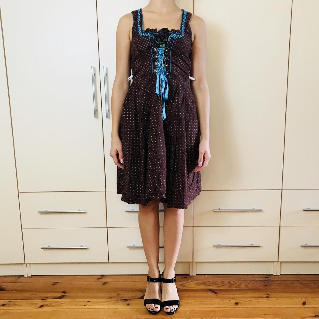 Vintage Women's Landhaus Country Drindl Tyrolean Dress - 2