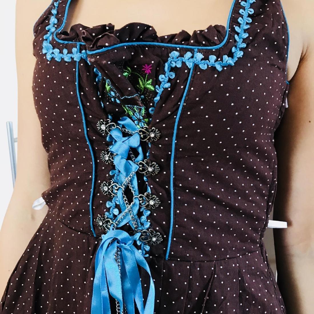 Vintage Women's Landhaus Country Drindl Tyrolean Dress - 3
