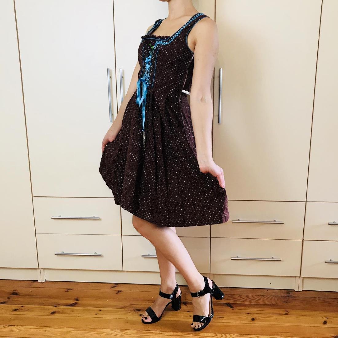 Vintage Women's Landhaus Country Drindl Tyrolean Dress - 4