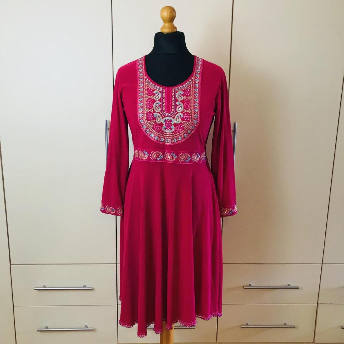 Vintage Women's Custom Handmade Designer Dress Size EUR