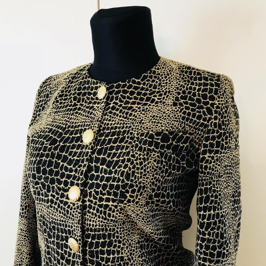 Vintage Women's Unknown French Designer Jacket Blazer - 2