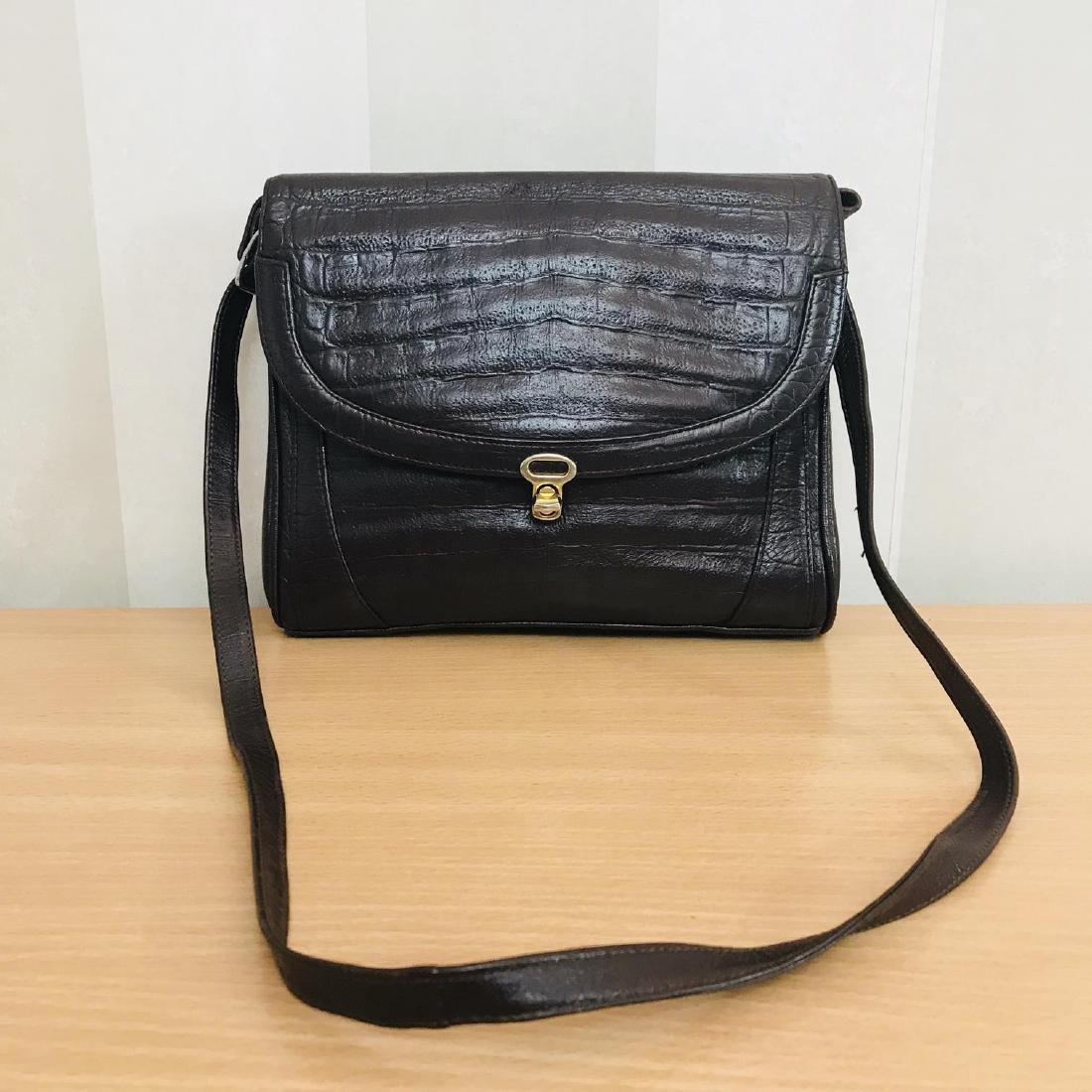 Vintage Crocodile Imitation Leather Shoulder Bag - 2