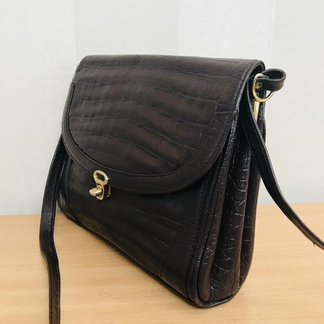 Vintage Crocodile Imitation Leather Shoulder Bag - 3
