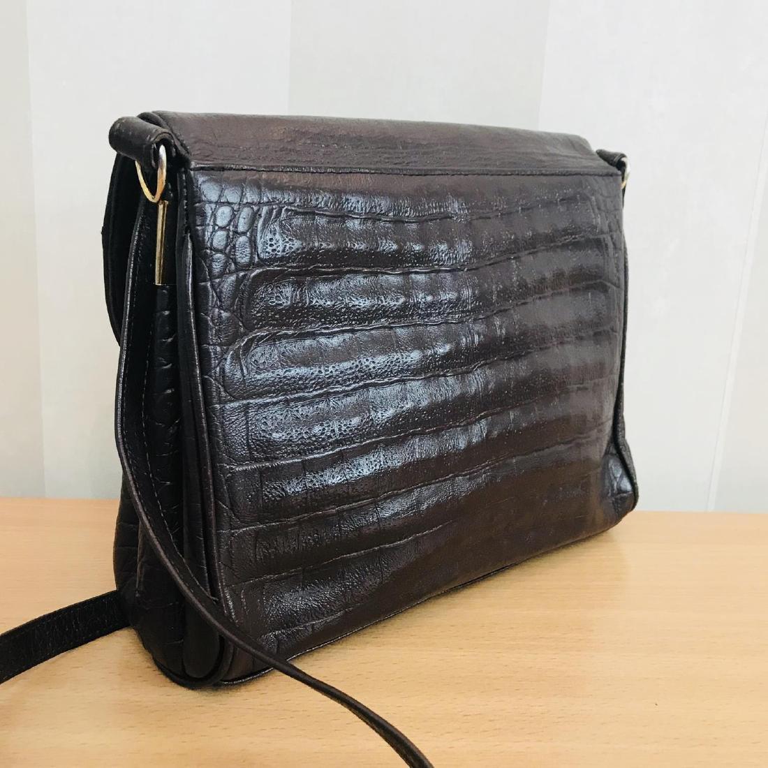 Vintage Crocodile Imitation Leather Shoulder Bag - 4