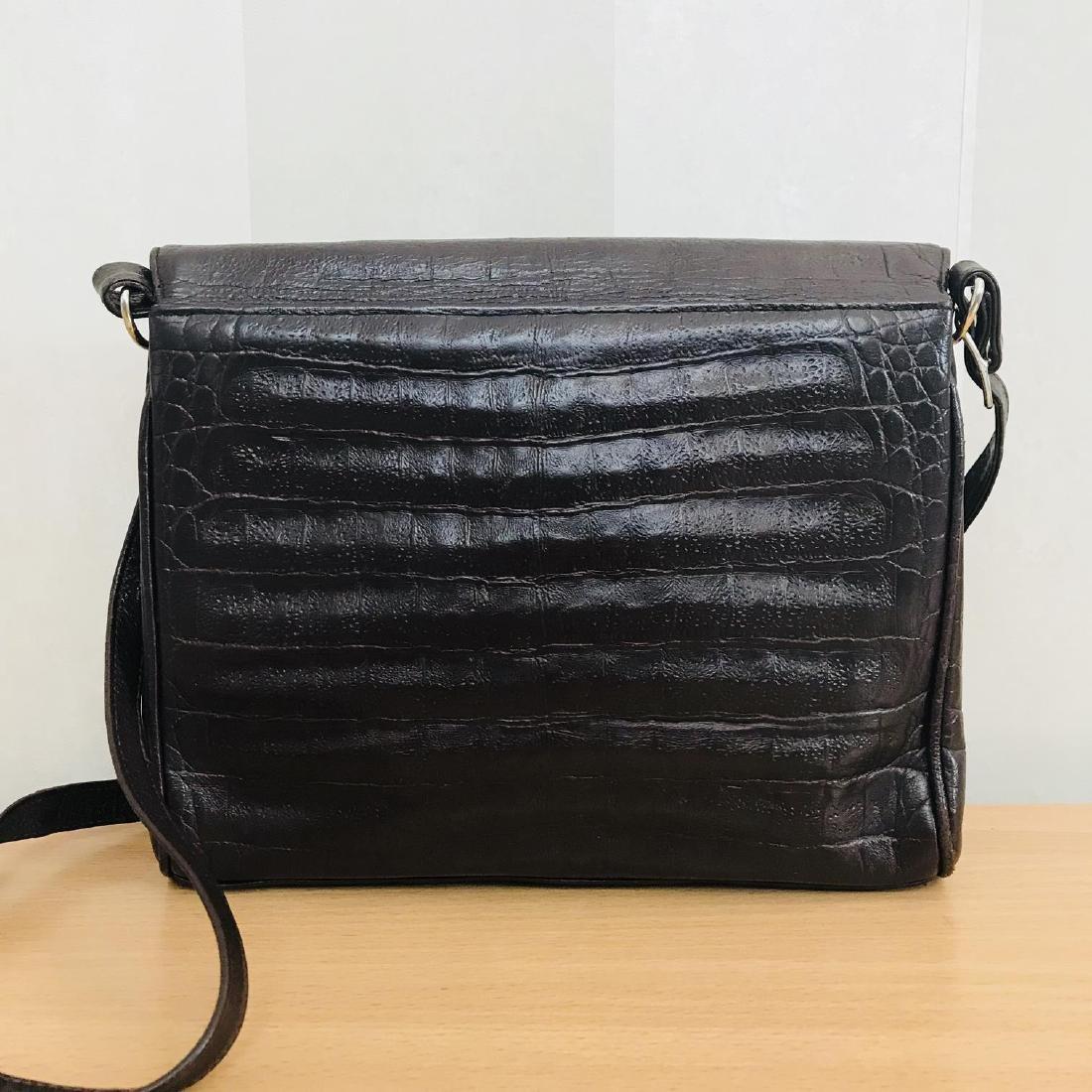 Vintage Crocodile Imitation Leather Shoulder Bag - 5