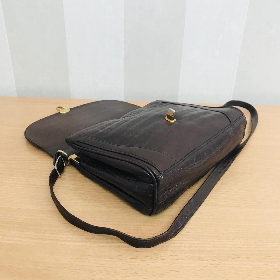 Vintage Crocodile Imitation Leather Shoulder Bag - 6