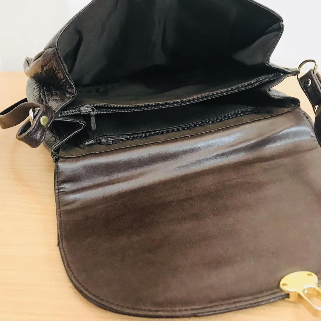 Vintage Crocodile Imitation Leather Shoulder Bag - 7
