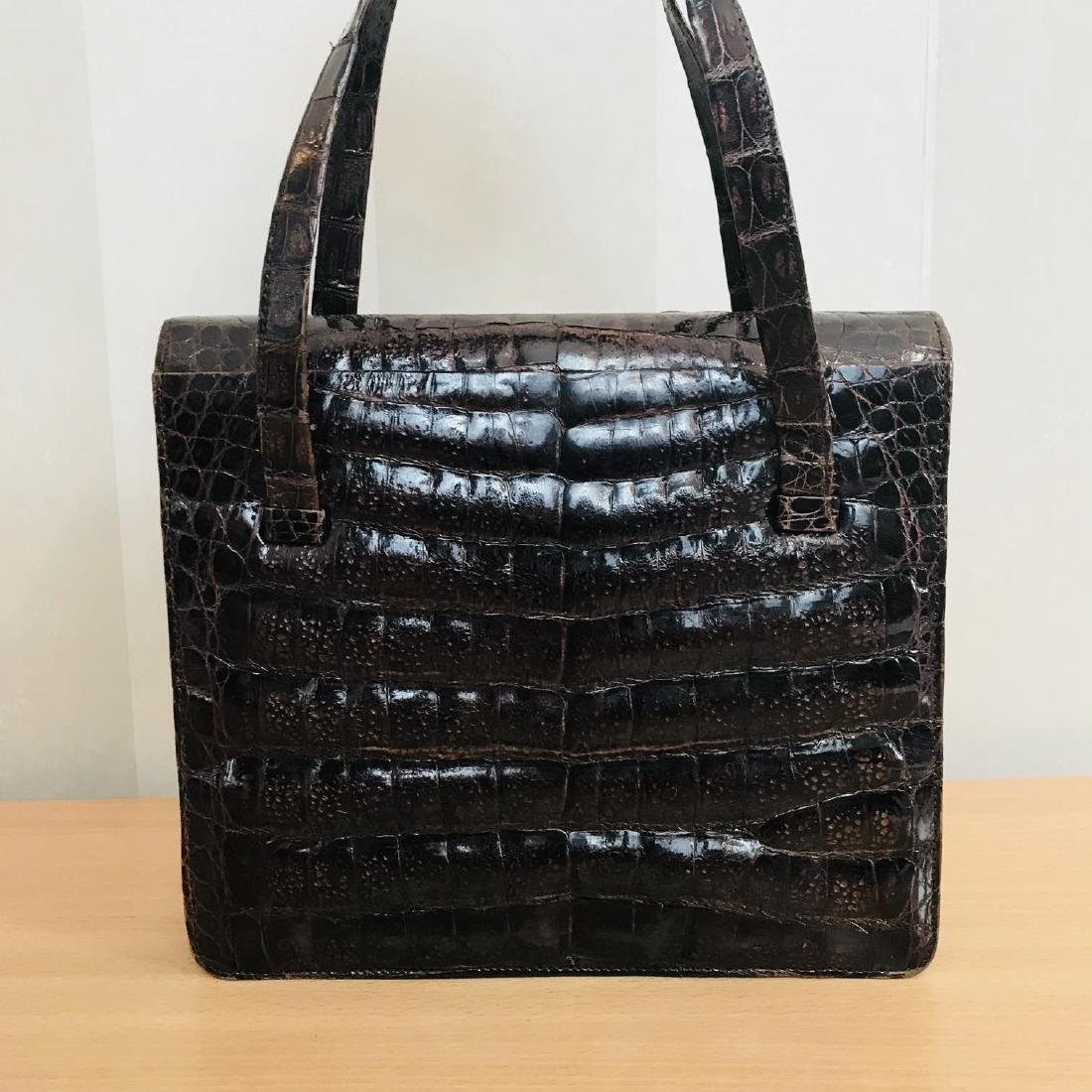 Vintage Genuine Crocodile Leather Handbag - 4