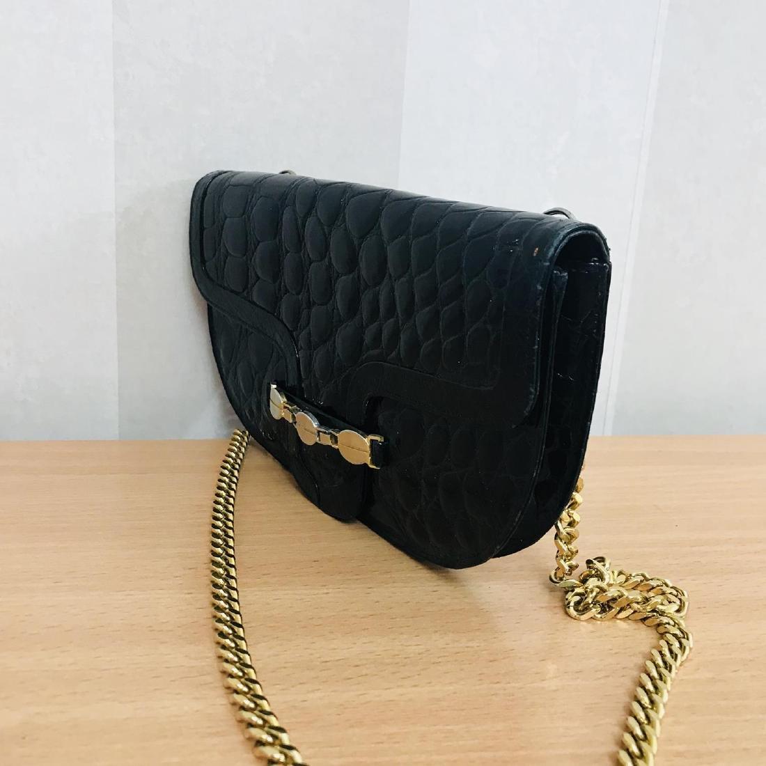 Vintage Crocodile Imitation Leather Clutch Bag - 3